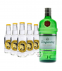 Tanqueray London Dry Gin (47,3% Vol., 0,7 L) & 5 x Thomas Henry Tonic Water (0,2 L)