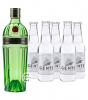Tanqueray No. 10 Ten Gin (47,3 % Vol., 0,7 L) & 5 x Gents Swiss Roots Tonic Water (0,2 L)