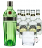 Tanqueray No. 10 Gin (47,3% Vol., 0,7 L) & 5 x Fentimans Tonic Water (0,2 L) + 1 mySpirits Tumbler-Glas