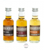 Auchentoshan Gift Collection Whisky-Probierset American Oak, Three Wood, 12 YO / 40 & 43 % Vol. / 3 x 0,05 Liter in Geschenkbox