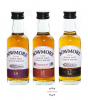 Bowmore Distillers Collection Probierset mit Whisky-Minis - 12, 15, 18 Jahre / 40 & 43 % Vol. / 3 x 0,05 Liter in Geschenkbox