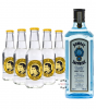 Bombay Sapphire London Dry Gin (40% Vol., 1,0 L) & 5 x Thomas Henry Tonic Water (0,2 L)