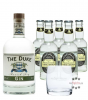The Duke Munich Dry Gin (45% Vol., 0,7 L) & 5 x Fentimans Tonic Water (0,2 L) + 1 mySpirits-Tumbler-Glas