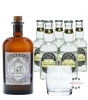 Monkey 47 Dry Gin (47% Vol., 0,5 L) & 5 x Fentimans Tonic Water (0,2 L) + 1 mySpirits Tumbler-Glas
