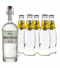 Poli Marconi 46 Gin (46% Vol., 0,7 L) & 5 x Schweppes Indian Tonic Water (0,2 L)