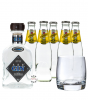 Steinhauser See Gin (48% Vol., 0,7 L) & 5 x Schweppes Indian Tonic Water (0,2 L) + 1 Tumbler-Glas