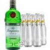 Tanqueray London Dry Gin & 5 x Schweppes Dry Tonic (47,3 % Vol., 1,7 Liter)